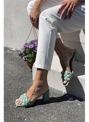 İnan Ayakkabı ÖRGÜ DETAYLI TERLİK Yeşil